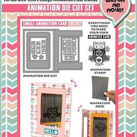 Uchi's Design NOVITÀ: Set per la progettazione di mini carte di animazione !! ULTIMO MODELLO