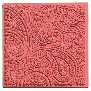 GIESSFORM / MOLDS ACCESOIRES 1 textuur mat, Paisley, 90 x 90 mm