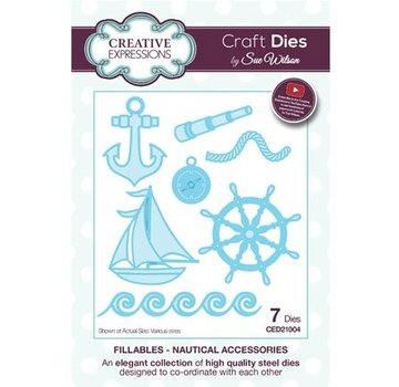 CREATIVE EXPRESSIONS und COUTURE CREATIONS Stanzschablonen: Nautical Accessories