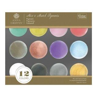 FARBE / STEMPELKISSEN 20% spesiell rabatt! 12 Farger: Mix & Match Pigment Powder