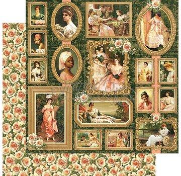 GRAPHIC 45 Portret van een Dame, ontwerper papier 30,5 x 30,5 cm