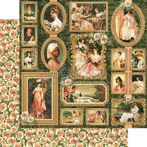 GRAPHIC 45 Portrait of a Lady, DesignerPapier 30,5 x 30,5cm