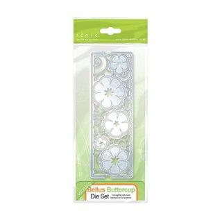 Tonic Studio´s Stanz-und Prägeschablone: filigrane Zierbordüre mit Blumen
