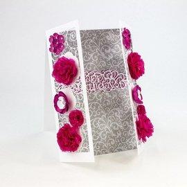 Tonic Studio´s Estampado y grabado en relieve de plantilla: borde decorativo filigrana con flores