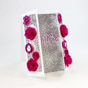 Tonic Studio´s Stamping and embossing template: filigree decorative border with flowers