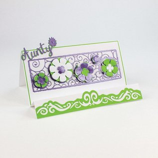 Tonic Studio´s Stempelen en embossing sjabloon: filigraan decoratieve grens met bloemen