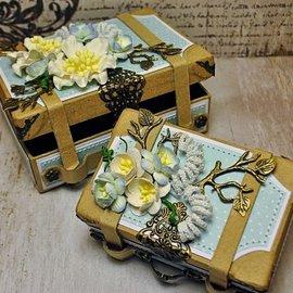 Holz, MDF, Pappe, Objekten zum Dekorieren 2 nostalgiske mini-kufferter, lavet af stærk pap