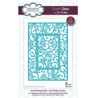 CREATIVE EXPRESSIONS und COUTURE CREATIONS cutting and embossing die: Scattered Leaves