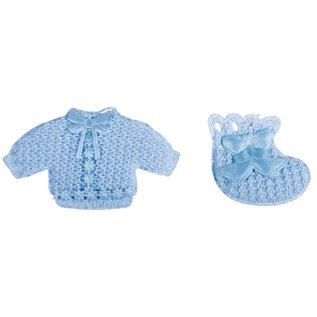 Embellishments / Verzierungen Babyaccessoires chemise + sokken baby blauw