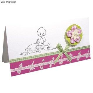 Embellishments / Verzierungen Satin Motif pugno banda rosa baby
