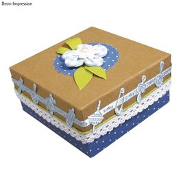 Embellishments / Verzierungen Satin Motiv hullede bånd babyblå