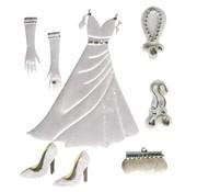 Embellishments / Verzierungen Satin Deko-Sticker: Hochzeit
