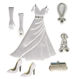 Embellishments / Verzierungen Deco Pegatinas de raso de la boda: