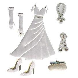 Embellishments / Verzierungen Sateng Deco Klistremerker: bryllup