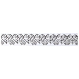 Embellishments / Verzierungen Washi tape with punched top edge: heart