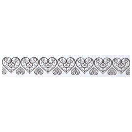 Embellishments / Verzierungen Washi tape med udstansede-edge toppe: heart