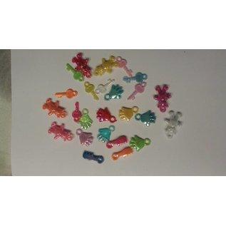Embellishments / Verzierungen 25 Acryl-Anhänger, Thema Baby in diverse Farbe