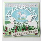 Joy!Crafts / Jeanine´s Art, Hobby Solutions Dies /  Stansning skabelon: Border græs med blomster