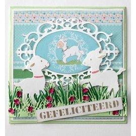 Joy!Crafts / Jeanine´s Art, Hobby Solutions Dies /  modèle POINTAGE: herbe frontière avec des fleurs