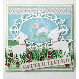 Joy!Crafts / Jeanine´s Art, Hobby Solutions Dies /  plantilla de perforación: hierba Frontera con flores