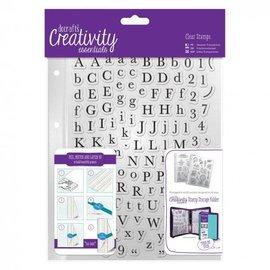 Docrafts / Papermania / Urban timbri trasparenti con lettere maiuscole e minuscole