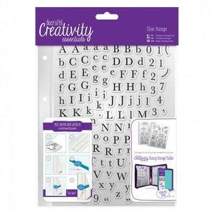 Docrafts / Papermania / Urban Transparante stempels met hoofdletters en kleine letters