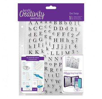 Docrafts / Papermania / Urban tampons transparents avec des lettres majuscules et minuscules