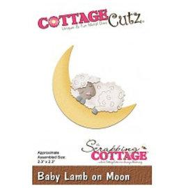 Cottage Cutz plantilla de perforación: Sleeping ovejas en la luna