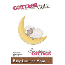 Cottage Cutz Stamping template: Sleeping sheep on moon