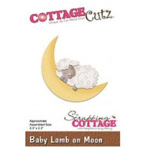 Cottage Cutz Stanzschablone: Schlafendes Schaf auf Mond