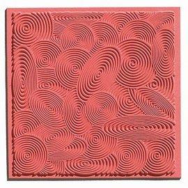 Modellieren 1 tekstur matte spiraler, 90 x 90 mm