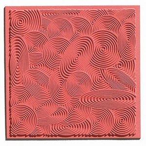 GIESSFORM / MOLDS ACCESOIRES 1 textuur mat spiralen, 90 x 90 mm