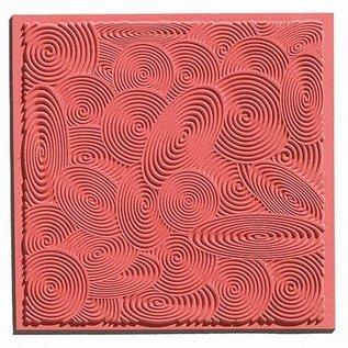 Modellieren 1 textuur mat spiralen, 90 x 90 mm