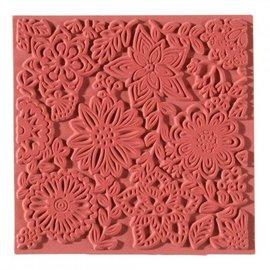 1 tapis texture, fleurs, 90 x 90 mm