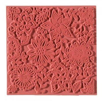 1 texture mat, flowers, 90 x 90 mm