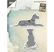 Joy!Crafts / Jeanine´s Art, Hobby Solutions Dies /  modello di punzonatura: cani mentire e seduta