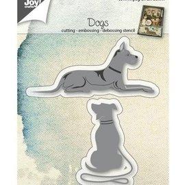 Joy!Crafts / Jeanine´s Art, Hobby Solutions Dies /  Stanzschablone: Hunde, liegend und sitzend