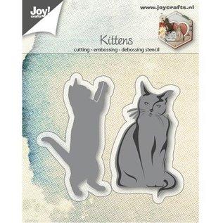 Joy!Crafts / Jeanine´s Art, Hobby Solutions Dies /  Ponsen sjabloon: katten, het spelen en zitten