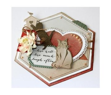 Joy!Crafts / Jeanine´s Art, Hobby Solutions Dies /  Stamping template: cats, playing and sitting