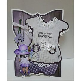 Dutch DooBaDoo A5 template card type, dress