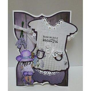 Dutch DooBaDoo A5 skabelon korttype, kjole