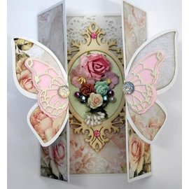 Dutch DooBaDoo A4 template card Butterfly Art