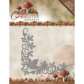 AMY DESIGN AMY DESIGN, Stamping y pre-plantilla: esquina con hojas