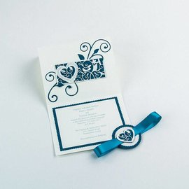 Tonic Studio´s Stamping and pre-template: delicate decorative border heart and bird