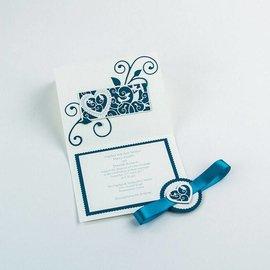 Tonic Studio´s Stempelen en embossing sjabloon: filigraan decoratieve grens Hart en vogel