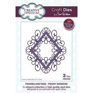 CREATIVE EXPRESSIONS und COUTURE CREATIONS Punching template: top diamond frame