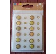 Embellishments / Verzierungen brad epossidici, 12 grandi e 12 piccoli