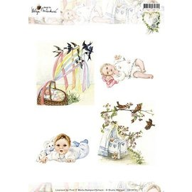 Bilder, 3D Bilder und ausgestanzte Teile usw... Picture sheet, A4, baby