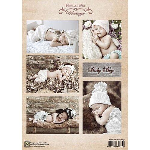 Bilder, 3D Bilder und ausgestanzte Teile usw... Picture sheet, A4, baby boy