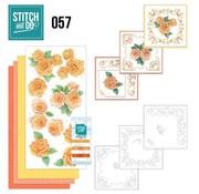 """BASTELSETS / CRAFT KITS Card set """"Rosen"""" embroidered"""